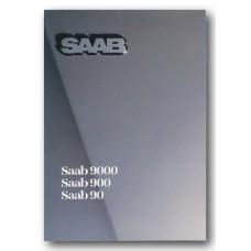 1986   Saab 90 + 900 + 900 Turbo 16 S + 9000   (German)