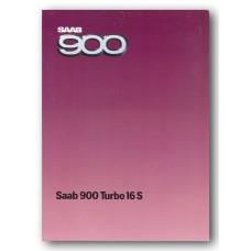 1985   Saab 900 Turbo 16 S   (GB-English)