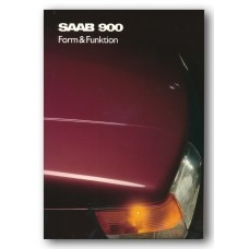 1989   Saab 900 Form & Function Book   (Swedish)