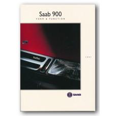 1991   Saab 900 Form & Function Book   (Int-English)