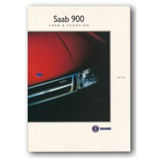 1992   Saab 900 Form & Funktion Book   (Swedish)