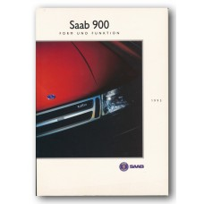 1993   Saab 900 Form & Function Book   (German)