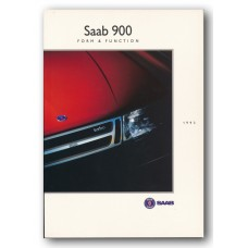 1993   Saab 900 Form & Function Book   (Int-English)