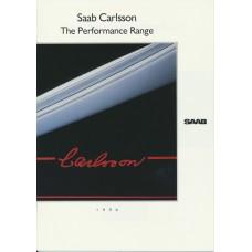 1990   Saab Carlsson - The Performance Range incl. 900 + 9000 CC + CD   (GB-English)