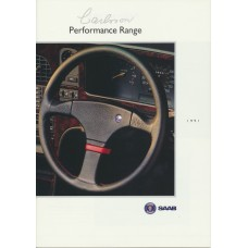 1991   Saab Carlsson - The Performance Range incl. 900 + 9000 CC + CD   (GB-English)