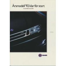 1992   Saab 900 + T 16 S + Cabrio + 9000  (Swedish)