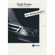 1992   Saab Swiss 900 + 9000  (CH-German)