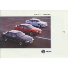 1992   Saab Range incl. Carlsson - 900 + Cabrio + 9000 CD + CS   (GB-English)
