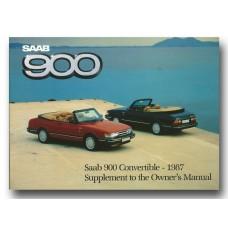 1987   Saab 900 Convertible   (US-English)