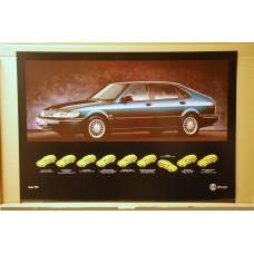 1994 - Saab 900 SE V6 5-door - scarabee green metallic